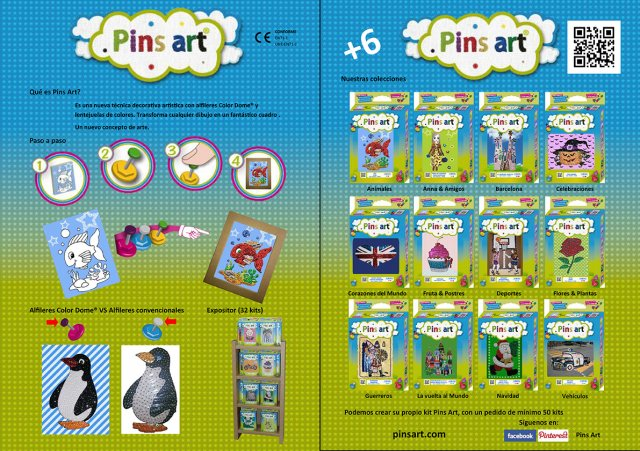 Folleto Pins Art