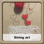 string art marró